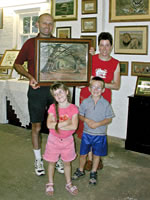the bowden family with their pastel illustration