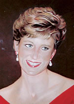 pastel portrait of Princess Diana by purely pastels artist tracey rood