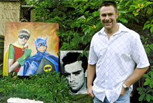 local artist steve essom and some of his amazing artwork